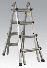 Sealey Aluminium Telescopic Ladder 4-Way EN 131 Adjustable Height from Toolden