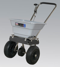 Sealey Stainless Steel Broadcast Salt Spreader 37kg Walk Behind from Toolden