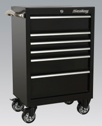 Sealey Rollcab 6 Drawer 675mm Heavy-Duty Black from Toolden