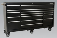 Sealey Rollcab 15 Drawer 1845mm Heavy-Duty Black from Toolden