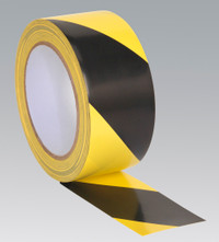 Sealey Hazard Warning Tape 50mm x 33mtr Black/Yellow from Toolden