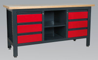 Sealey Workstation with 6 Drawers & Open Storage from Toolden