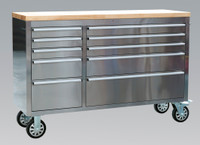 Sealey Mobile Stainless Steel Tool Cabinet 10 Drawer from Toolden