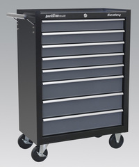 Sealey Rollcab 8 Drawer with Ball Bearing Runners - Black/Grey from Toolden