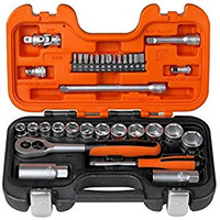 `Bahco 34 Piece Socket Set 1/4`` and 3/8```