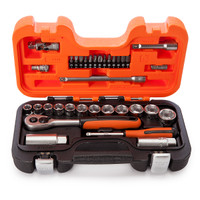 Bahco S560 Socket Set of 56 Metric 1/4 & 1/2in Drive from Toolden