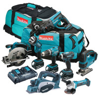 Makita 8 Piece Cordless Power Tool Kit 3 x 3.0Ah