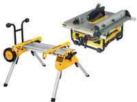 DeWalt DW745RS 240v Portable Site Saw with DE7400 Stand