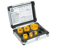 Faithfull Universal Varipitch Holesaw Plumbers Kit 9 Piece 19-57mm