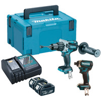 Makita DLX2176TJ 18v 2x5.0Ah Brushless Li-ion LXT Twin Kit from Duotool