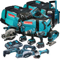 Makita 10 Piece Cordless Power Tool Kit 3 x 5.0Ah