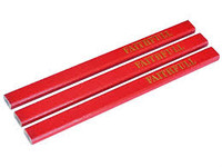 Faithfull Carpenter's Pencils - Red / Medium (Pack of 3)