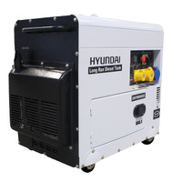 Hyundai DHY8000SELR 6kW Silenced Long Run Diesel Generator from Duotool.