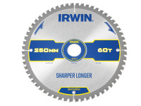 IRWIN Construction Circular Saw Blade 250 x 30mm x 60T ATB/Neg M