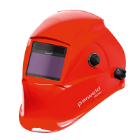 XR936H LARGE VIEW LIGHT REACTIVE WELDING AND GRINDING HELMET RED PARWELD