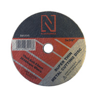 N-Durance Super Thin Metal Cutting Discs (25 Pack) 75 x 0.8 x 9.53mm from Toolden.