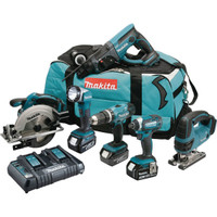 Makita DLX6068PT 18v 6 Piece Kit with 3x 5.0Ah Batteries