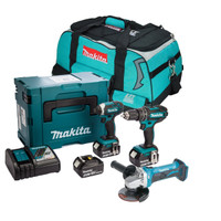 Makita 3 Piece Grinder Kit with 3 x 3.0Ah Batteries