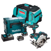 Makita 3 Piece Circular Saw Kit with 3 x 3.0Ah Batteries