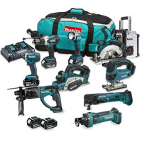 Makita DLX6067PT10X5 10 Piece Cordless Kit with 5 x 5.0Ah Batteries