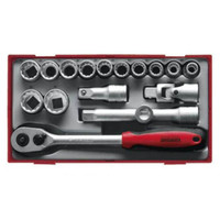 Teng TT1218 17 Piece Metric 1/2in Drive Socket Set