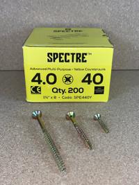 4.0 X 40MM SPECTRE SCREWS BOX OF 200