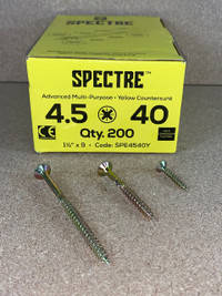 4.5 X 40MM SPECTRE SCREWS BOX OF 200