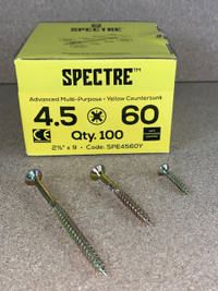 4.5 X 60MM SPECTRE SCREWS BOX OF 100