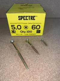 5.0 X 60MM SPECTRE SCREWS BOX OF 100