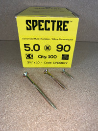 5.0 X 90MM SPECTRE SCREWS BOX OF 100