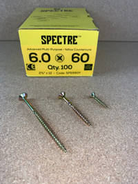6.0 X 60MM SPECTRE SCREWS BOX OF 100