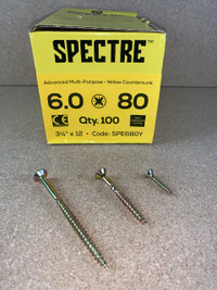 6.0 X 80MM SPECTRE SCREWS BOX OF 100