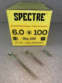 6.0 X 100MM SPECTRE SCREWS BOX OF 100