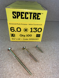 6.0 X 130MM SPECTRE SCREWS BOX OF 100