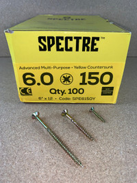 6.0 X 150MM SPECTRE SCREWS BOX OF 100