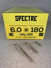 6.0 X 180MM SPECTRE SCREWS BOX OF 100