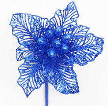 Poinsettia - Glitter 18cm