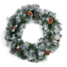 """Wreath - Glacier - 24"""" - 140 tips"""