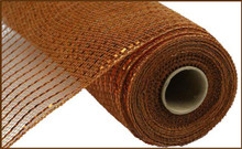 "Deco Mesh - 10"" x 10yd - Metallic Brown/Copper"