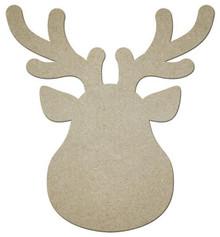 "MDF Shape - Reindeer Head - 12"" x 11"""