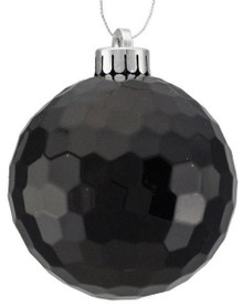 Honeycomb Ball Ornament - 100mm - Shiny Black