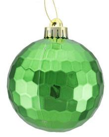 Honeycomb Ball Ornament - 100mm - Shiny Emerald Green