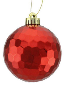 Honeycomb Ball Ornament - 100mm - Shiny Red