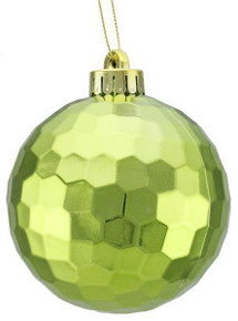 Honeycomb Ball Ornament - 100mm - Shiny Spearmint