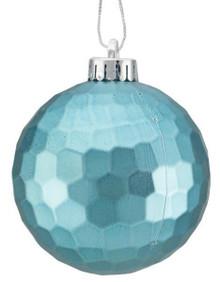 Honeycomb Ball Ornament - 100mm - Matte Turquoise