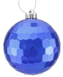 Honeycomb Ball Ornament - 120mm - Shiny Royal Blue