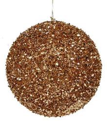Glitter Ball Ornament - 120mm - Rose Gold