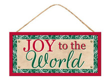 "Sign - Joy To The World - 13"" x 6"""