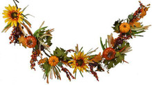 Garland - Pumpkin, Leaf & Sunflower - 5' Long