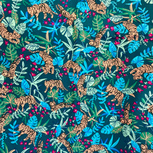 100% Cotton - Boundless - Tiger Jungle